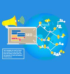 Business concept advertising social network seo vector