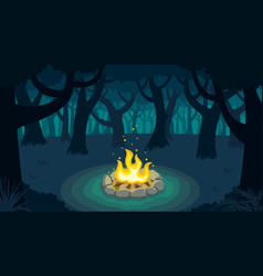 forest campfire vector image