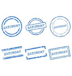Saturday stamps vector image