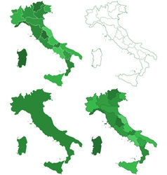 Italy maps vector