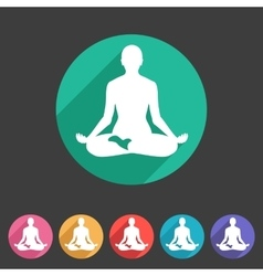 Yoga asana icon flat web sign symbol logo label vector