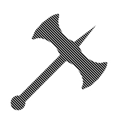 Battle axe sign vector