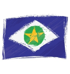 Grunge Mato Grosso flag vector image