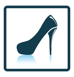 Female shoe with high heel icon vector
