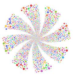 Apply fireworks swirl flower vector