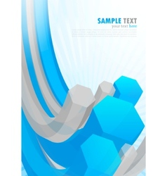 background with hexagon vector image vector image