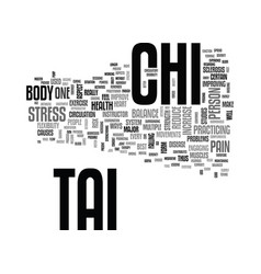 Benefits of tai chi to peoples health text word vector