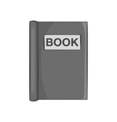 Book to read icon black monochrome style vector image vector image