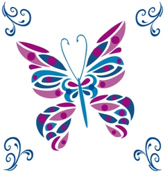 Butterfly colored vector