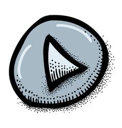 Cartoon image of play button icon play symbol vector