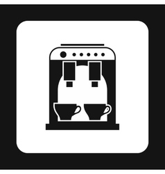 Coffee maker icon simple style vector image