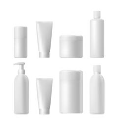 Cosmetic product plastic 3d bottle bottle vector