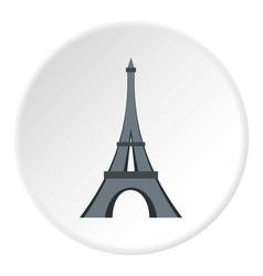 Eiffel tower icon circle vector