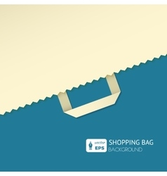 Flat background with shopping bag vector