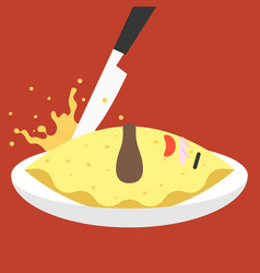 funny character japanese dish vector image vector image