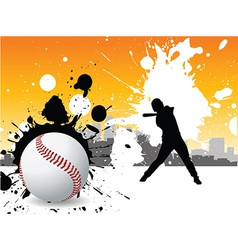 Graffiti baseball vector image