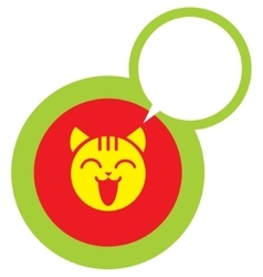 Happy cat face icon vector image vector image