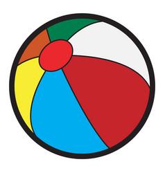 isolated beach ball vector image