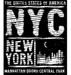 Newyork city typography slogan t-shirt graphics vector