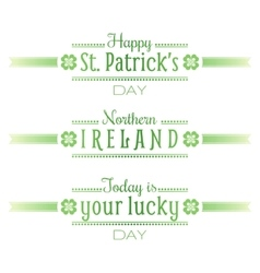 Northern ireland national st patrick day text vector