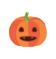 Pumpkin with triangular eyes and sharp canines vector