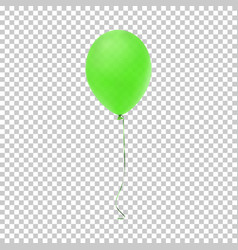 Realistic green balloon icon vector