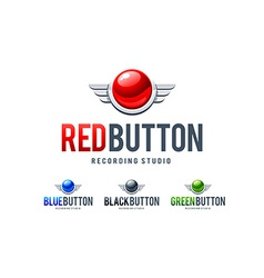 Red Button Logo vector image vector image