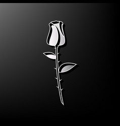 Rose sign gray 3d printed vector