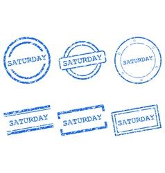 Saturday stamps vector