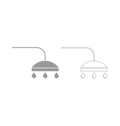 Shower the grey set icon vector