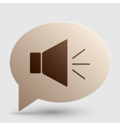 Sound sign with mute mark Brown vector image vector image