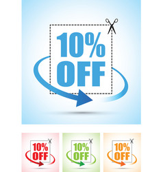 Ten percent arrow set vector