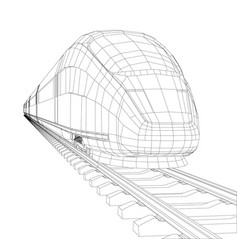 train outline vector image vector image