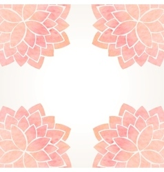 Watercolor pink floral background vector