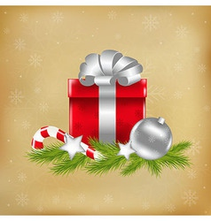 Xmas with gift vector