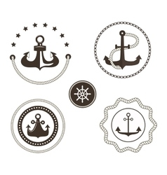 Anchor symbols badge vector