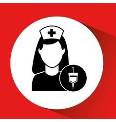 Blood bag donation hospital medicine icon vector