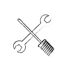 Construction tools equipment vector