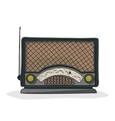 Cartoon radio vector image
