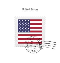 United States Flag Postage Stamp vector image