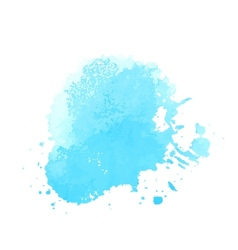 Bright blue watercolor vector image