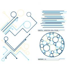 Digital solutions vector