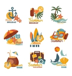 Beach And Summer Labels Set vector image