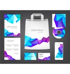 Abstract identity set crystal colorful vector