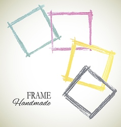 Colorful set of frame vector