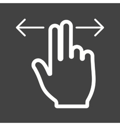 Two fingers horizontal scroll vector