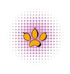 Animal paw icon comics style vector