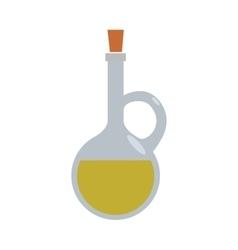 Olive oil inside bottle of glass icon jar design vector