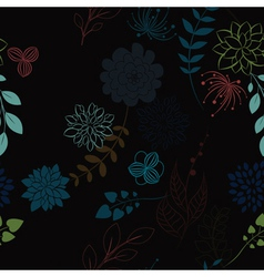 abstract seamless floral background vector image