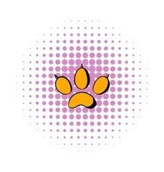 Animal paw icon comics style vector image vector image